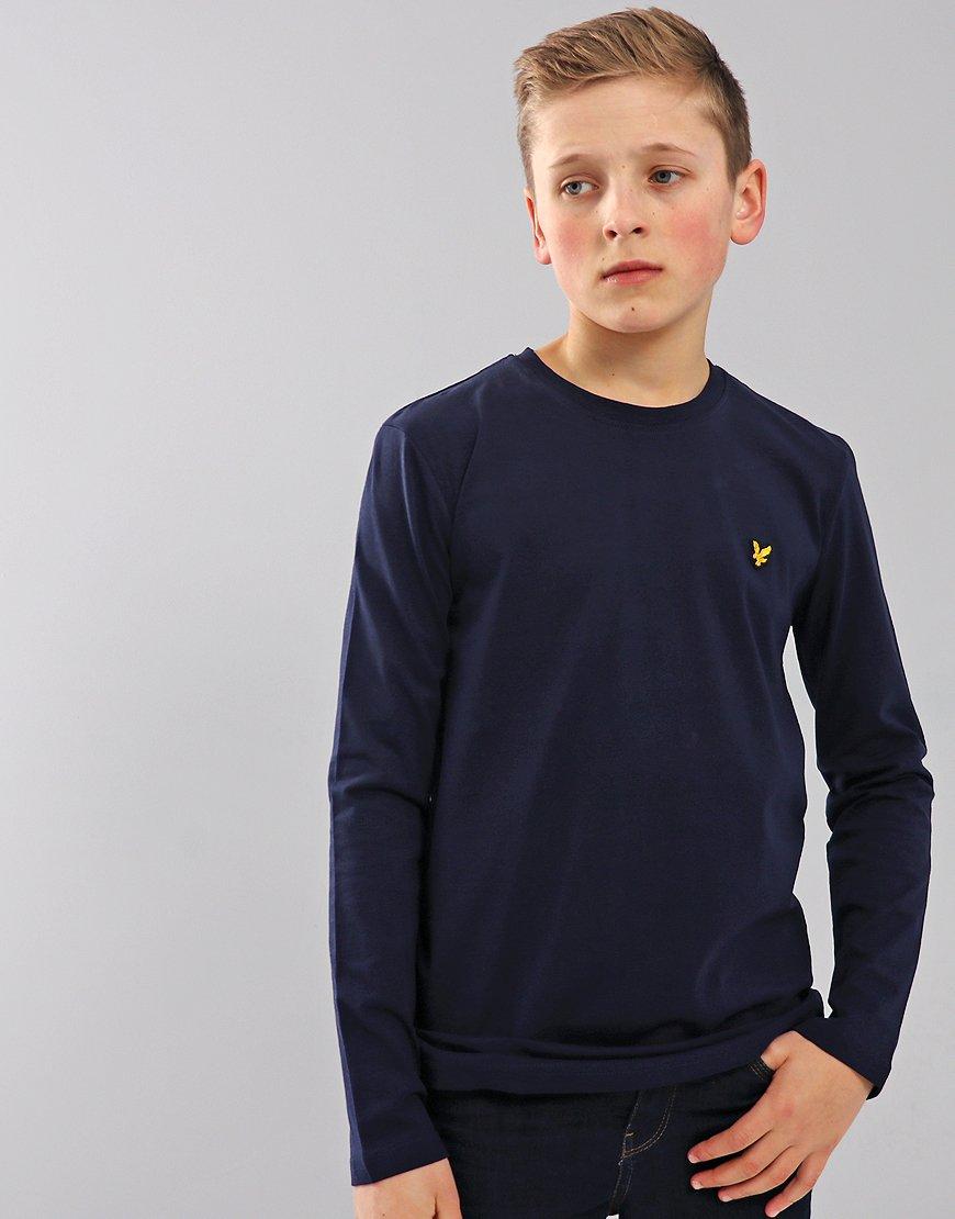 Lyle & Scott Junior Long Sleeved Classic T-Shirt Deep Indigo