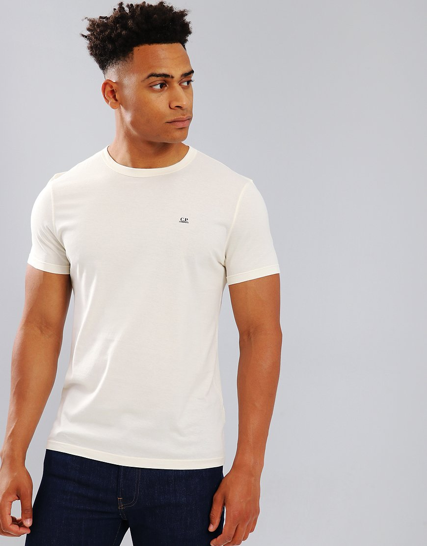 C.P. Company Mako Cotton T-shirt in Gauze White