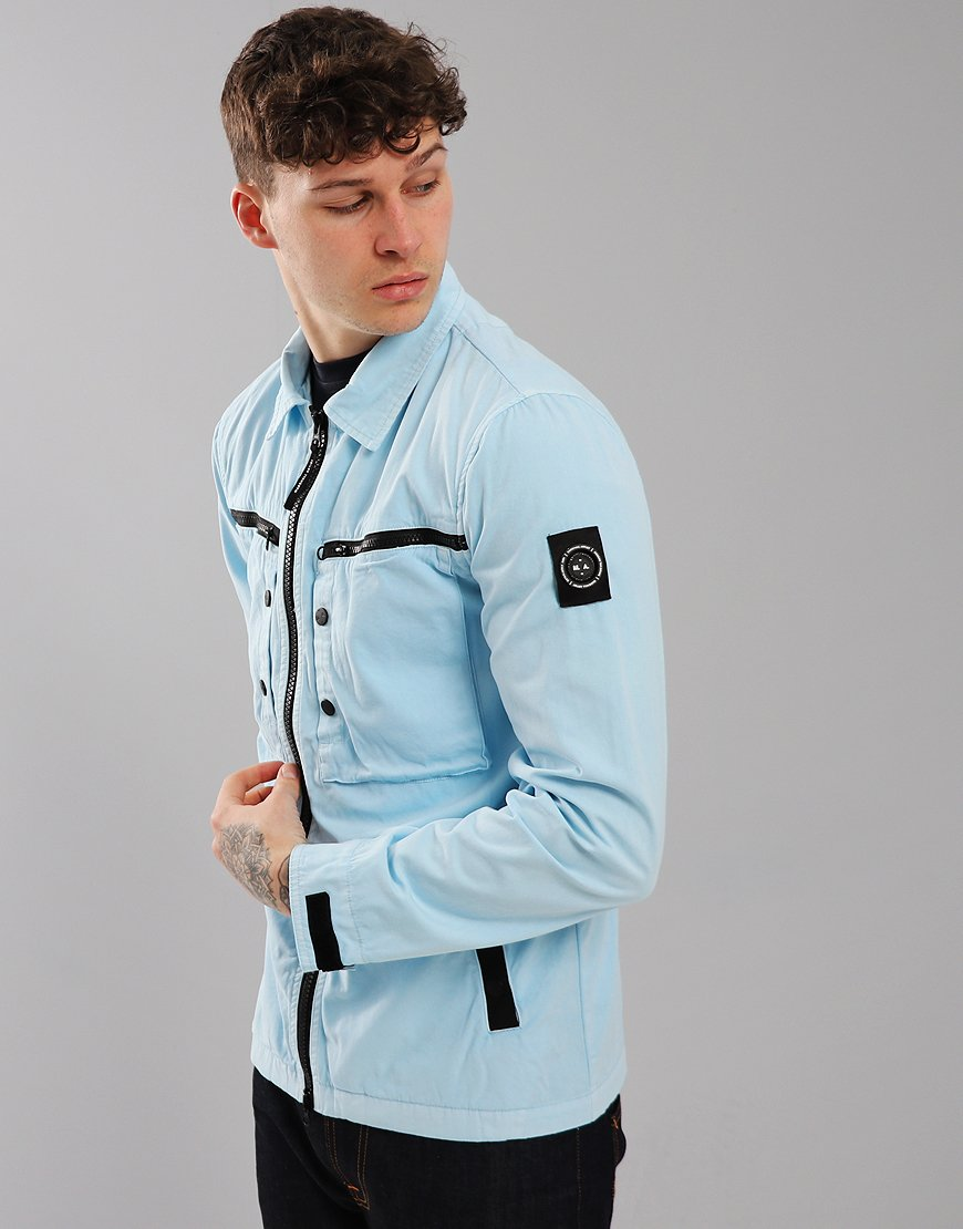 Marshall Artist Garment Dyed Overshirt Sky Blue