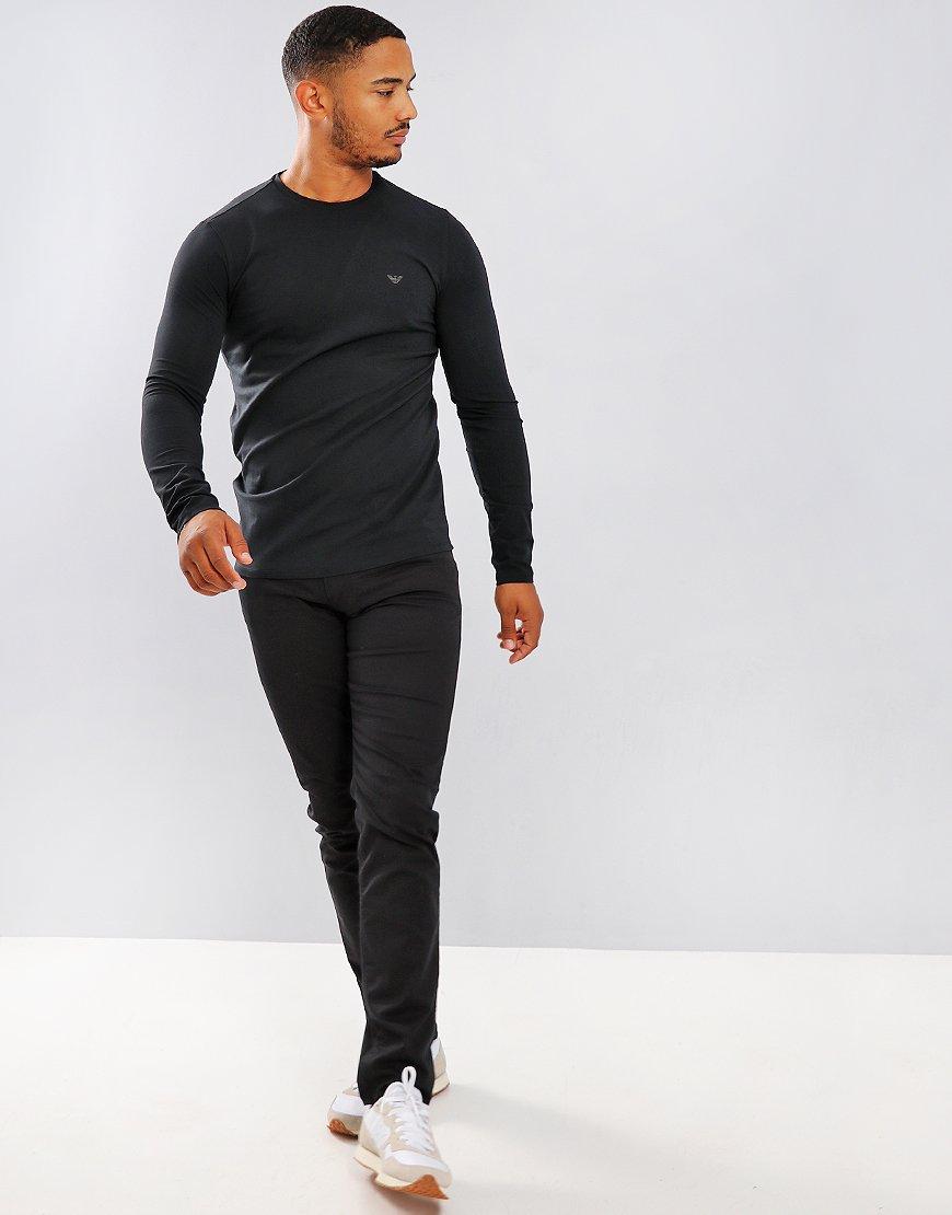 Emporio Armani Long Sleeve T-Shirt Black
