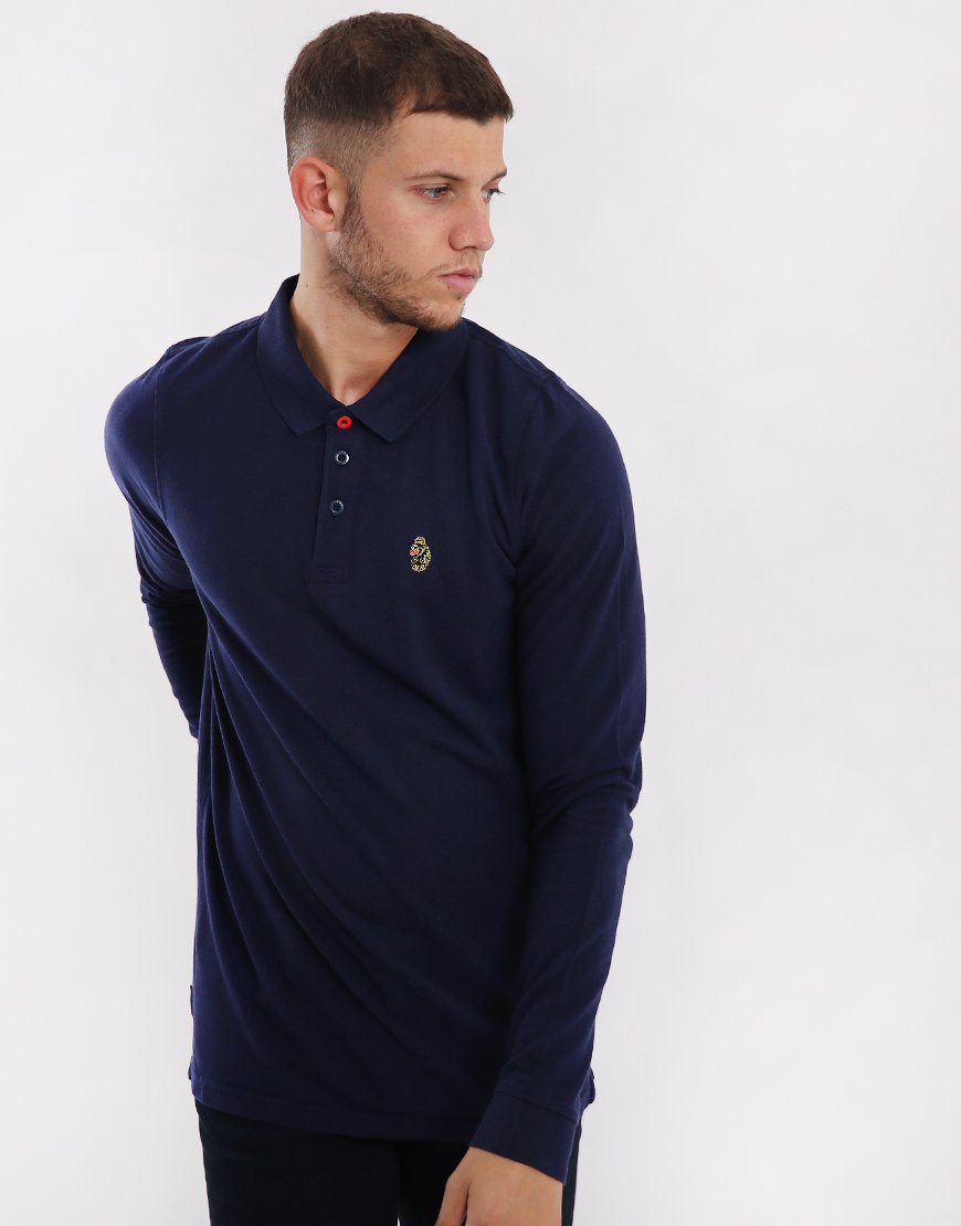 Luke 1977 Williams Long Sleeve Polo Shirt Navy