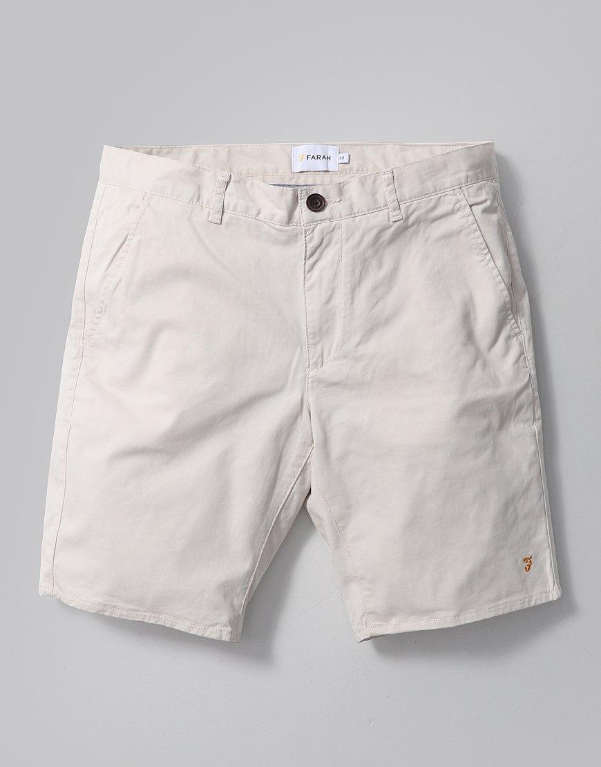 Farah Hawk Chino Shorts  Pebble