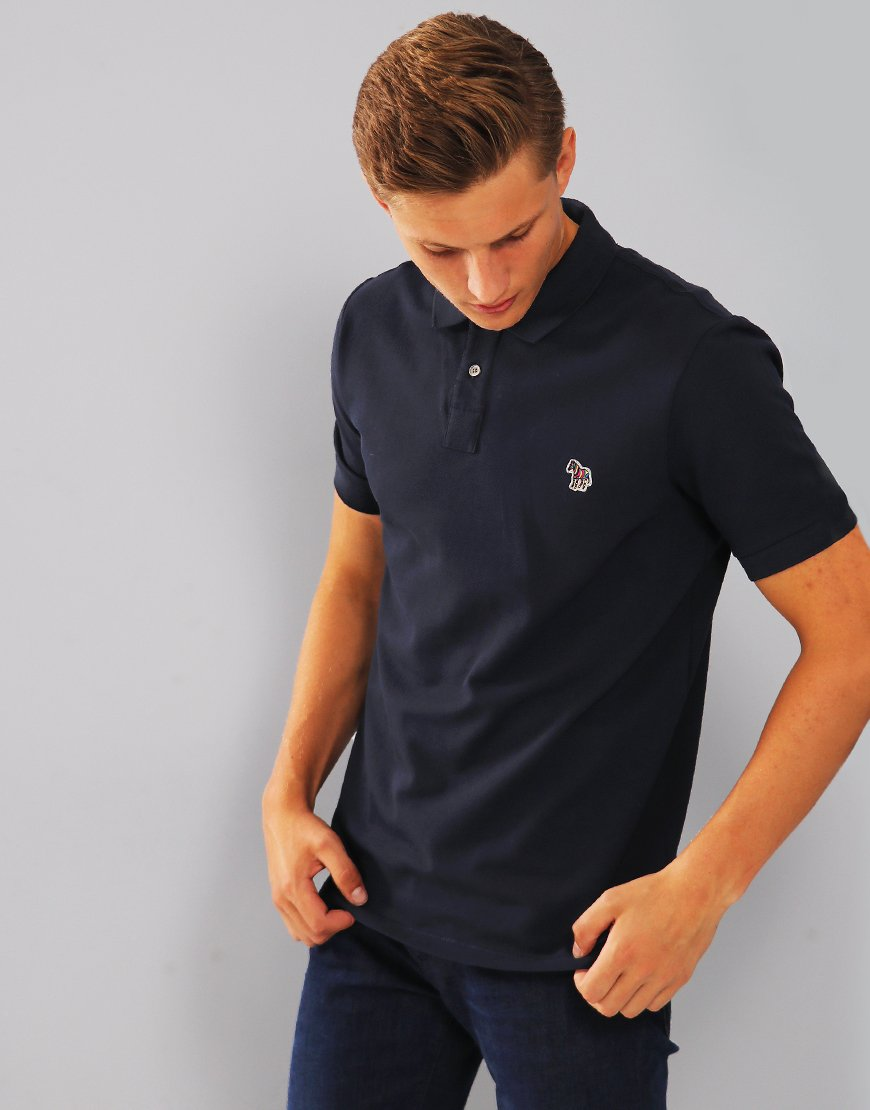 Paul Smith Zebra Logo Polo Shirt  Dark Navy