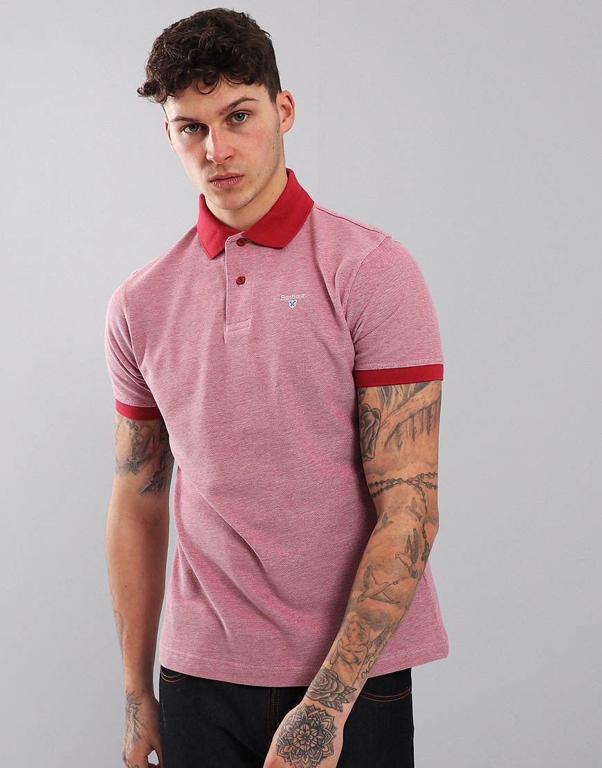 Barbour Sports Mix Polo Shirt Raspberry