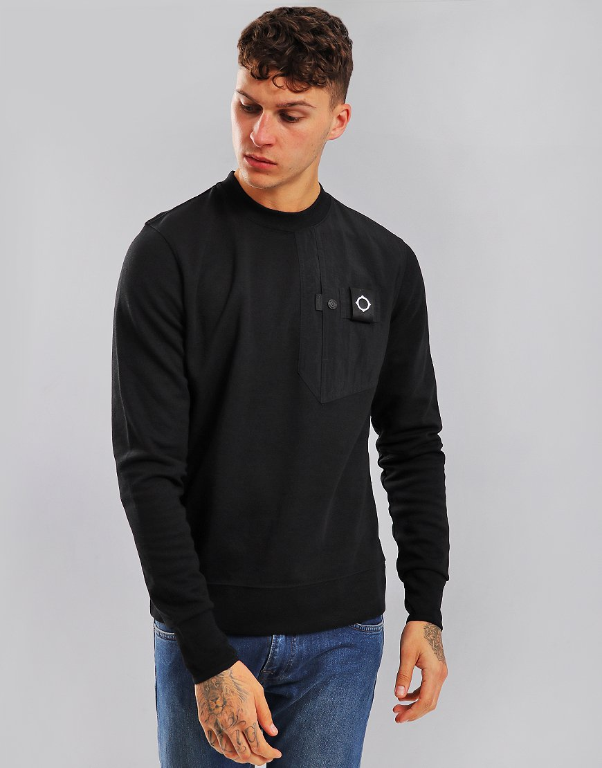 MA.Strum Pocket Sweat Jet Black