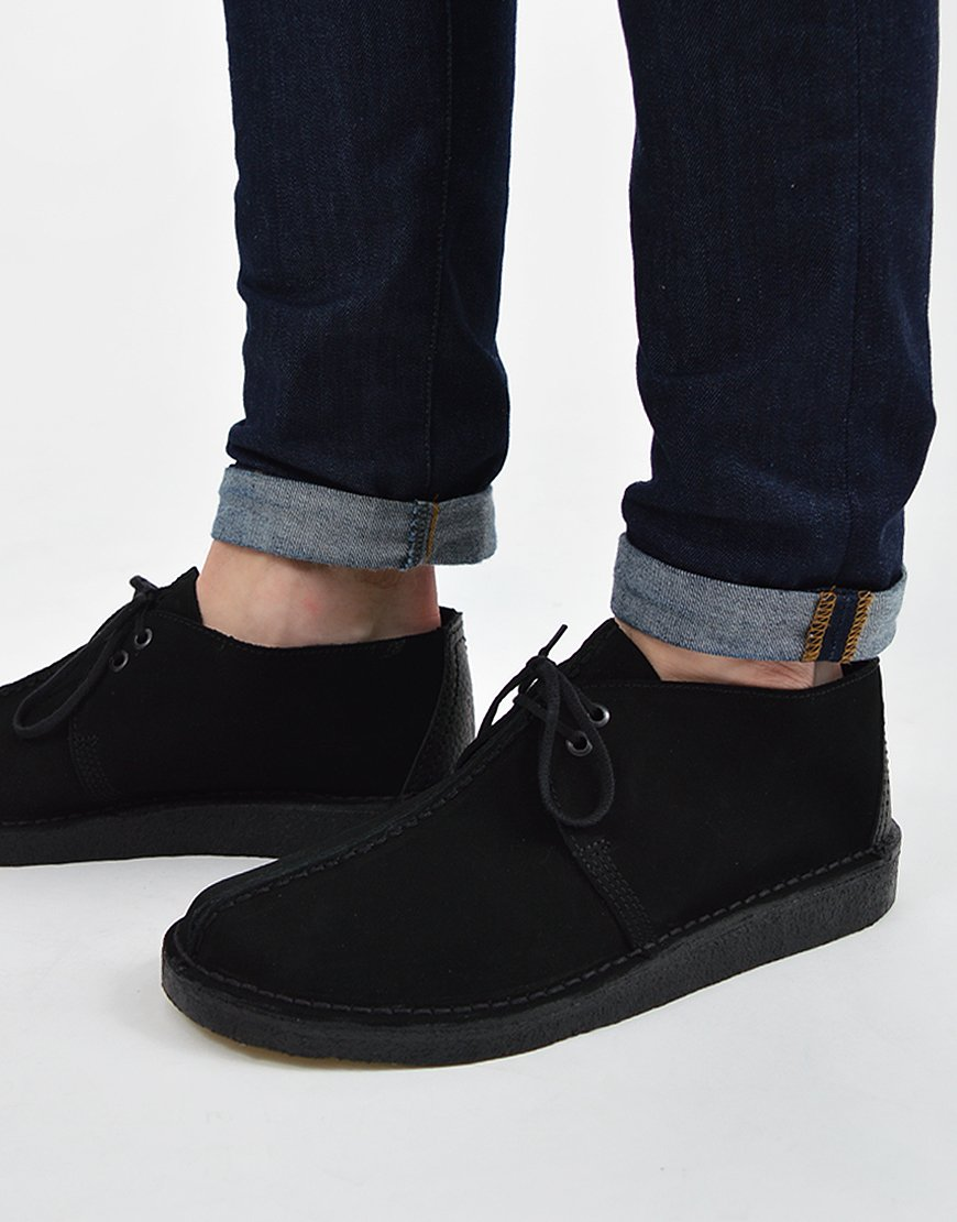 Clarks Originals Desert Trek Black Suede