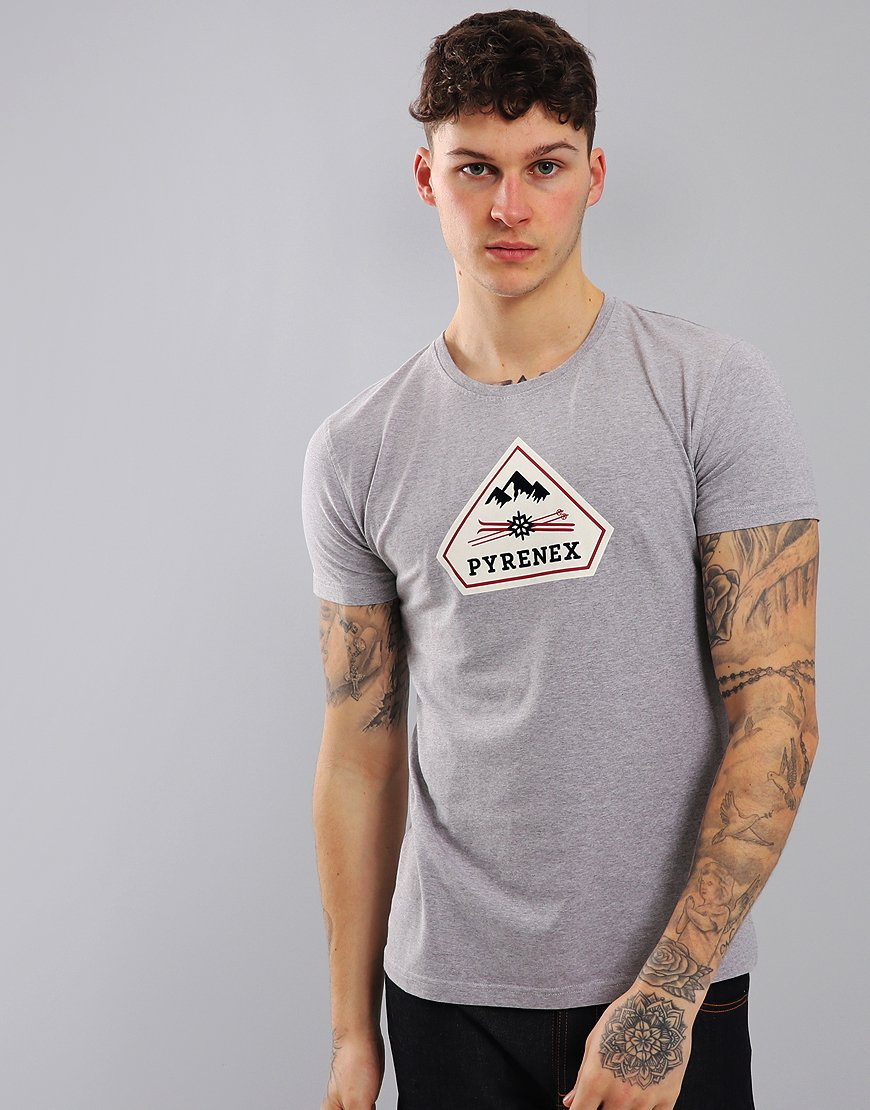 Pyrenex Karel Print T-Shirt Med Grey