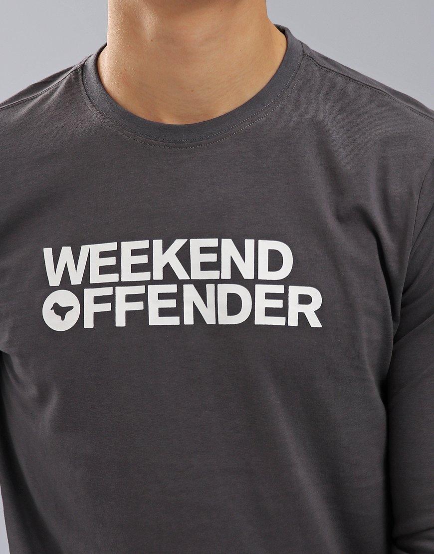 Weekend Offender Oscar Long Sleeve T-Shirt Charcoal