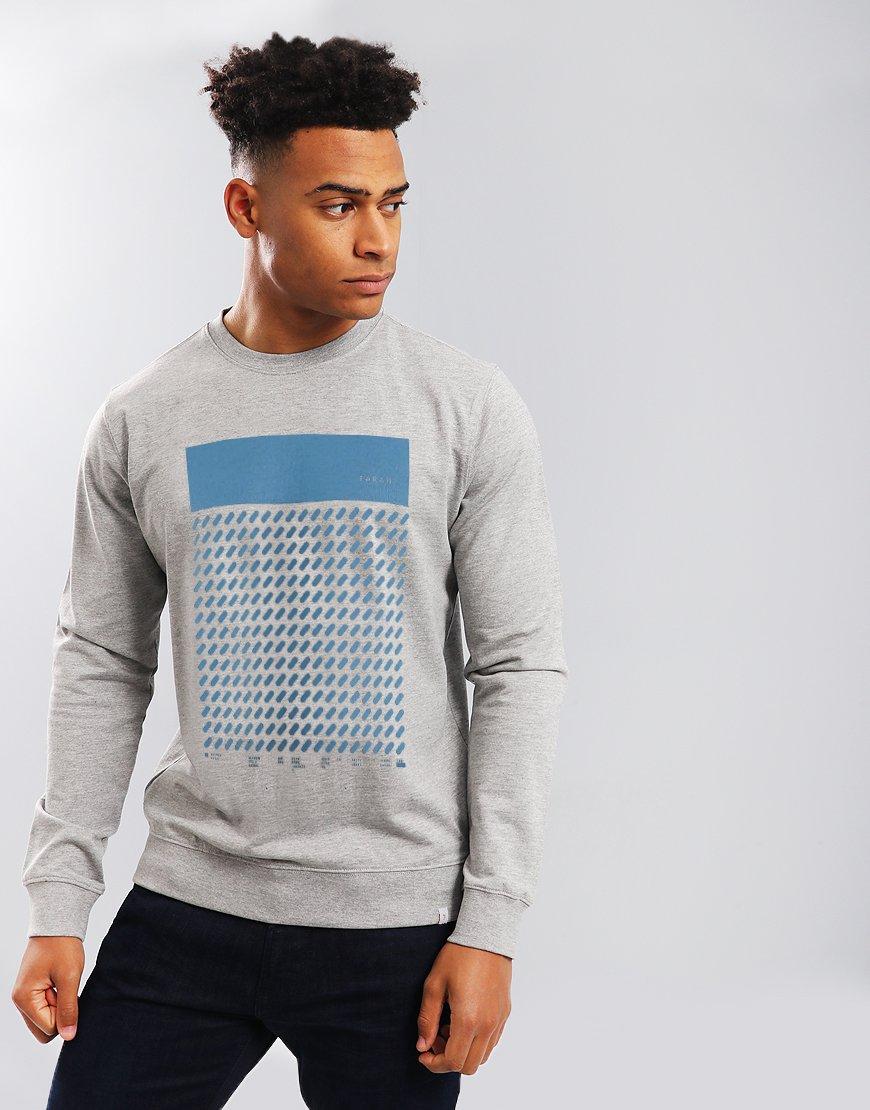 90e521a8513e Farah Seb Graphic Sweatshirt Grey - Terraces Menswear