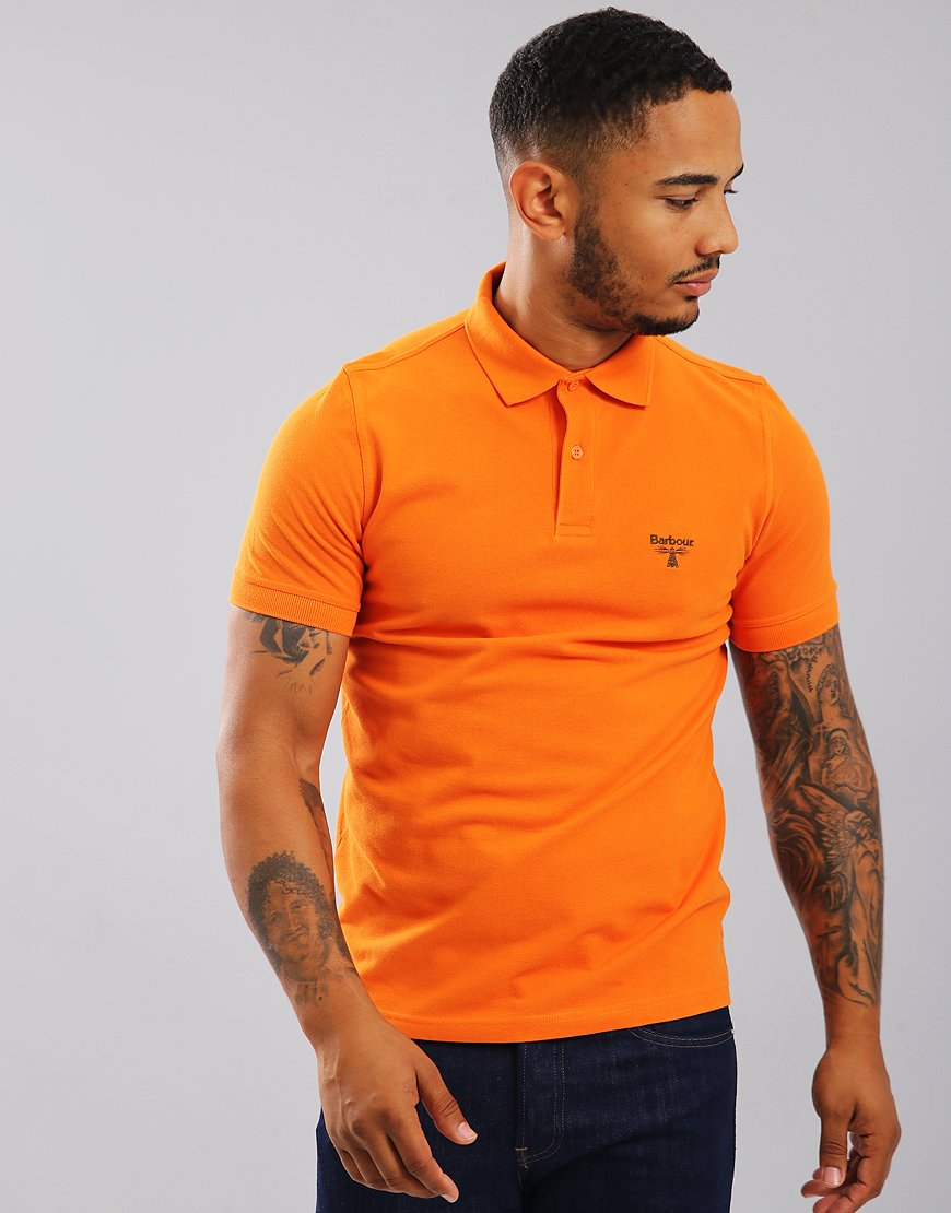 Barbour Beacon Polo Shirt Heritage Orange