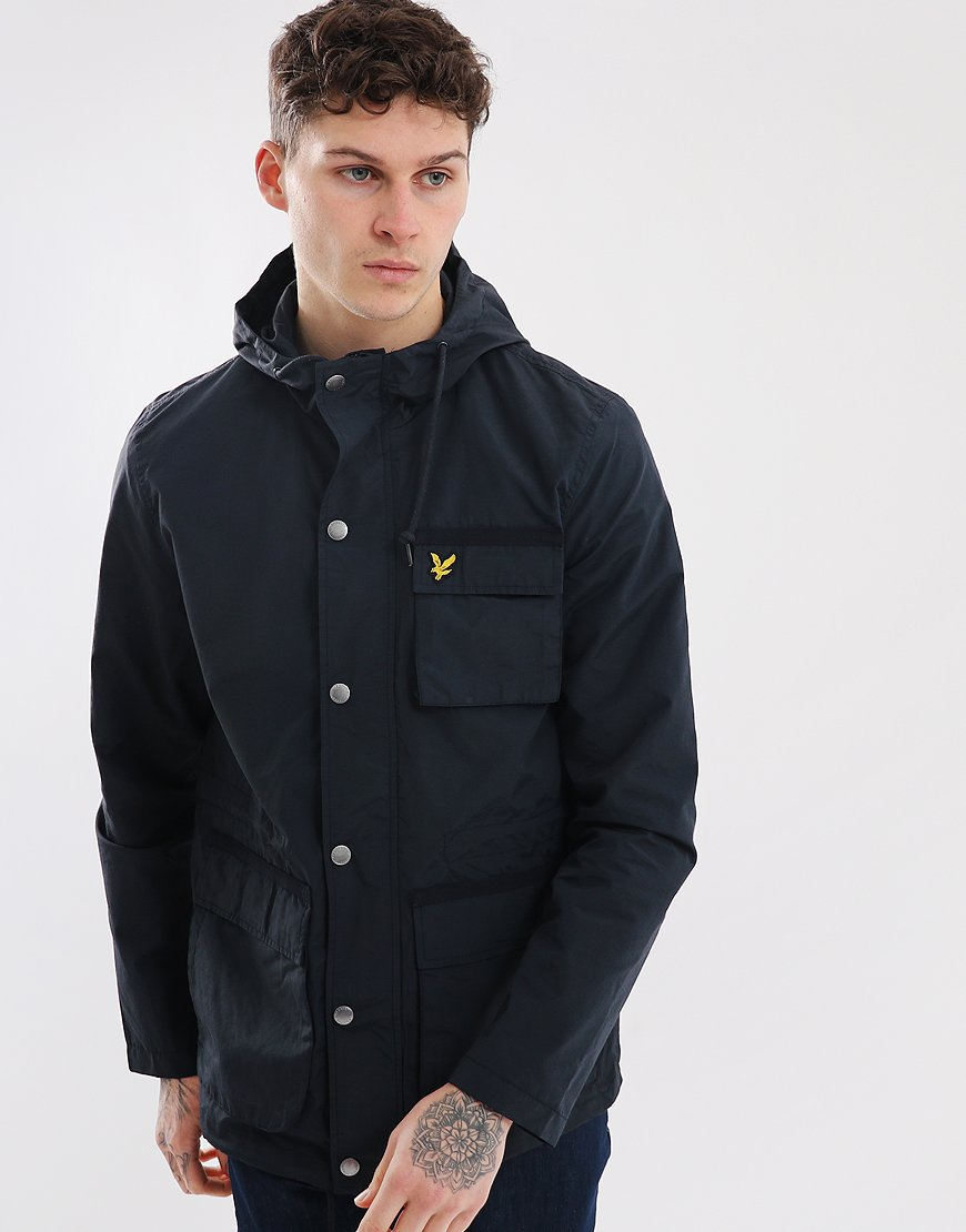 Lyle & Scott Hooded Jacket Dark Navy