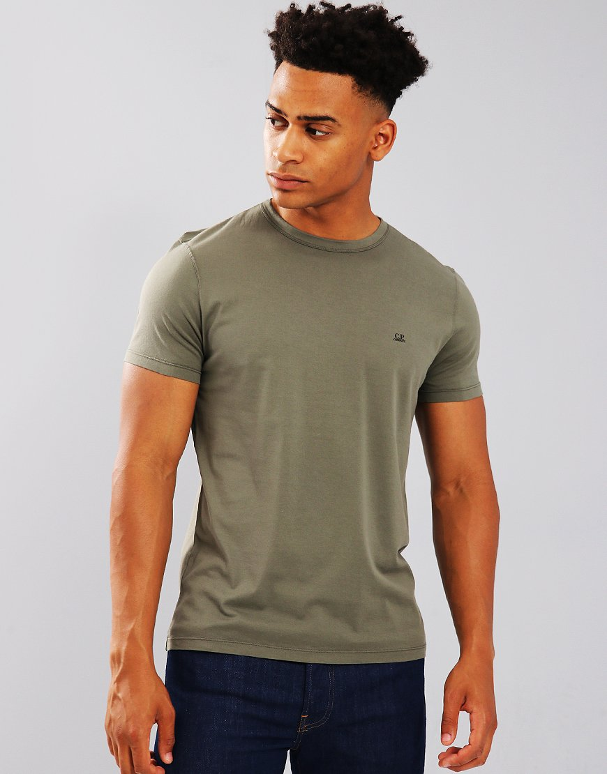 C.P. Company Mako Cotton T-shirt in Sage