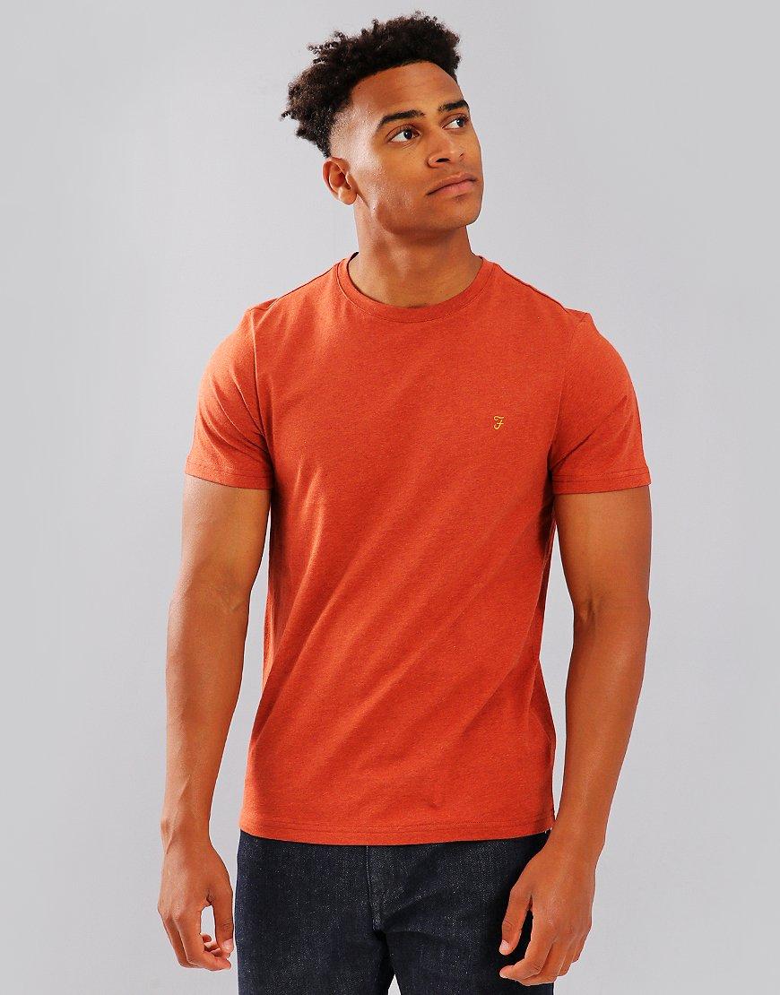 Farah Denny Slim Fit T-Shirt Rust Marl