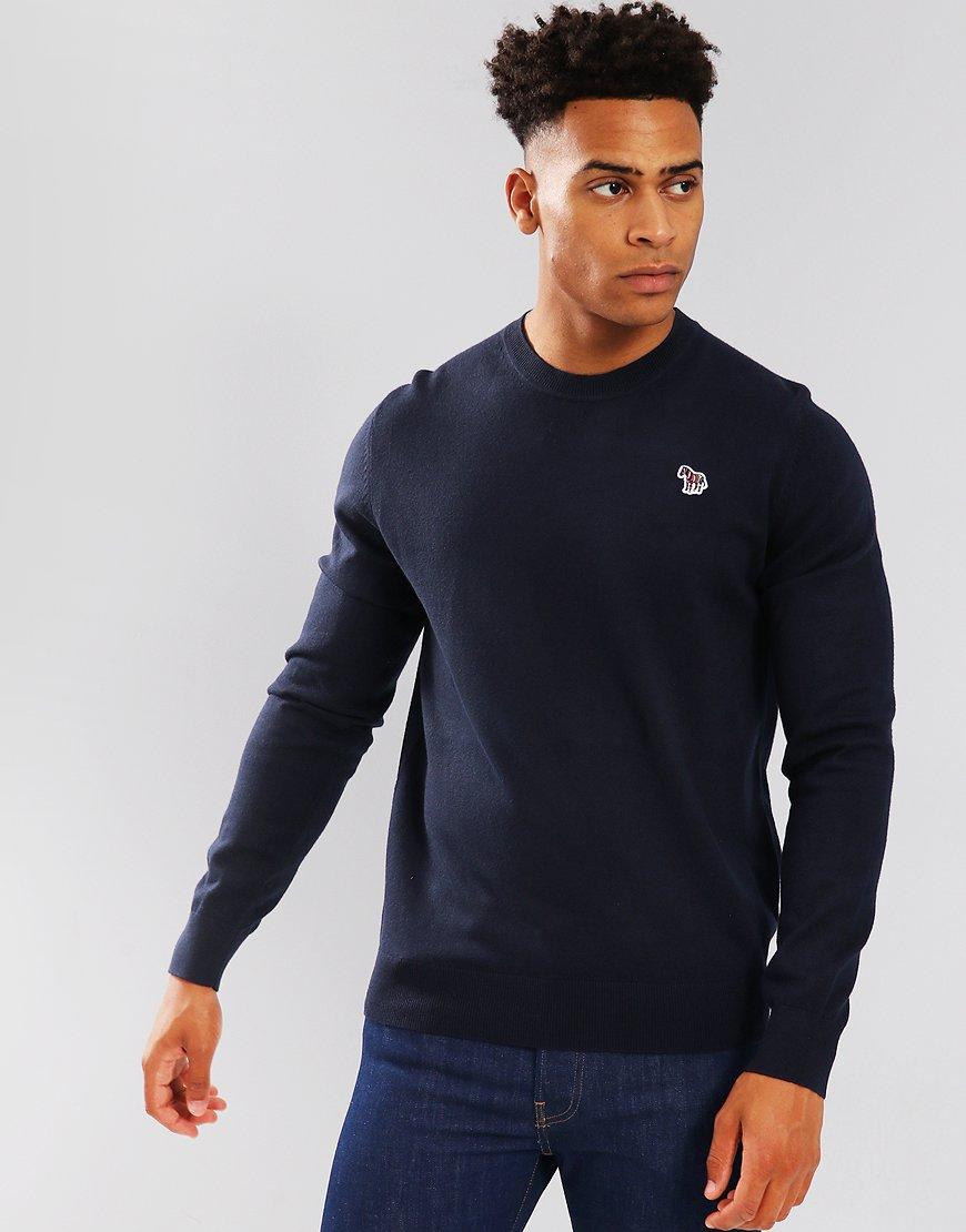Paul Smith Zebra Logo Cotton-Blend Knit Navy