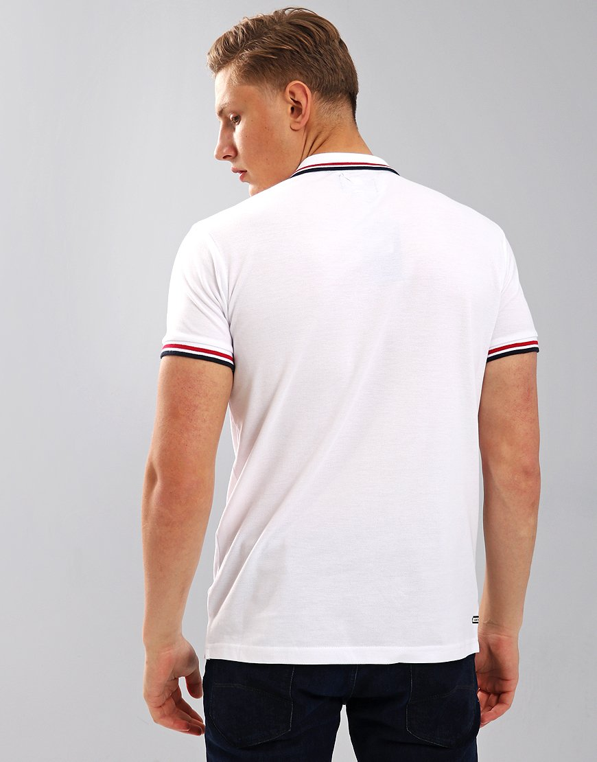 Weekend Offender Fender Polo Shirt White