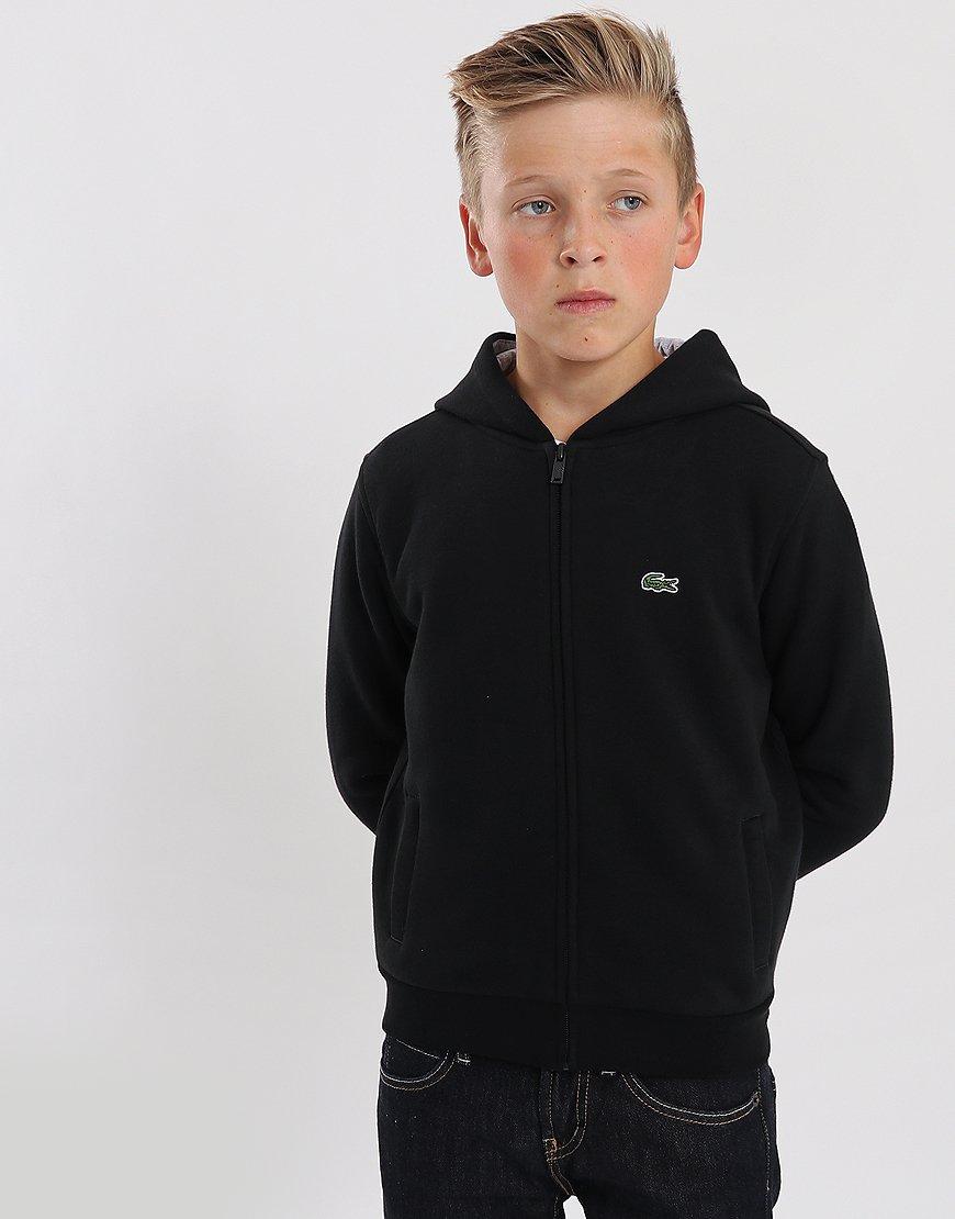 Lacoste Kids Zip Through Hoodie Black