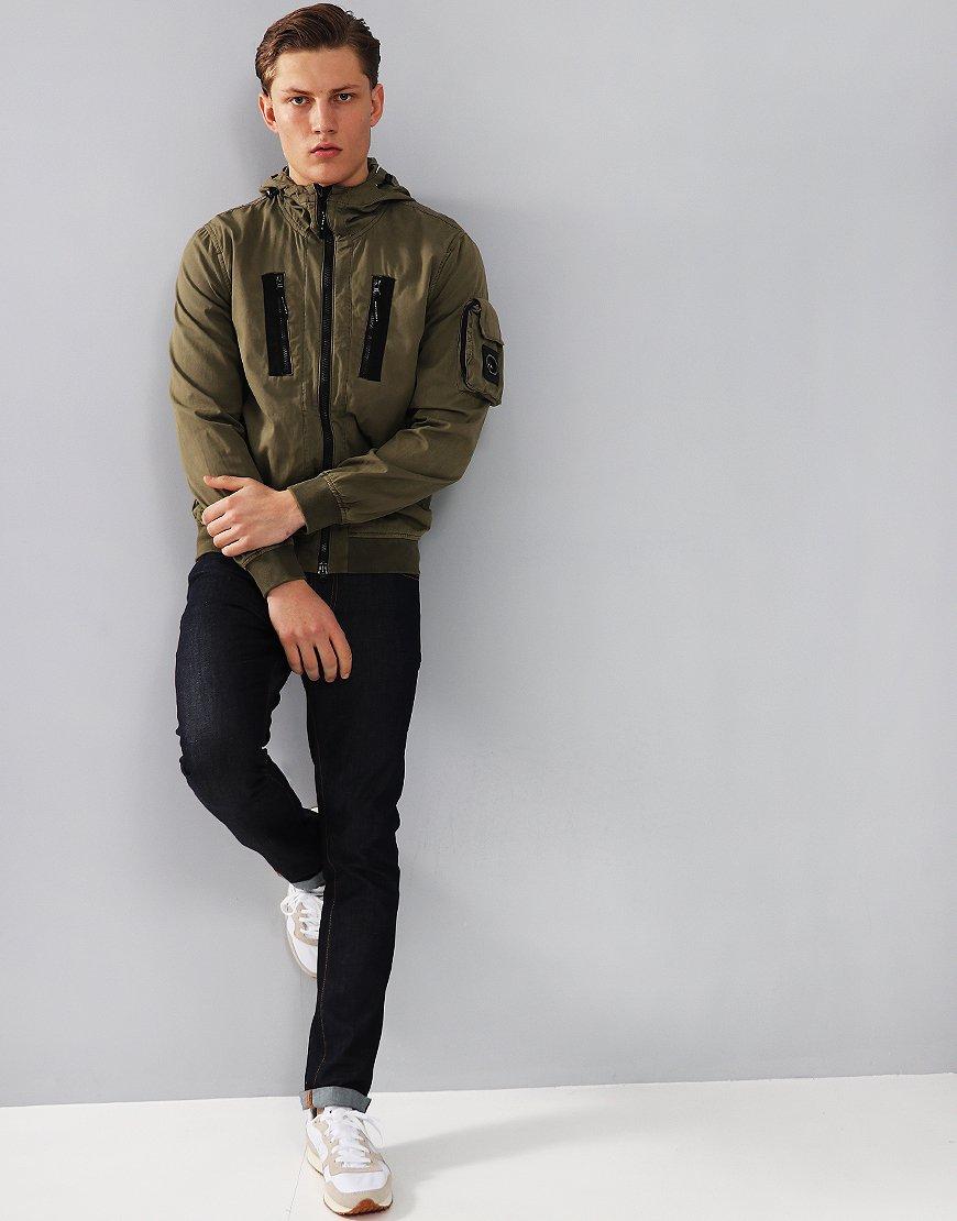 Marshall Artist Garment Dyed Bomber Khaki
