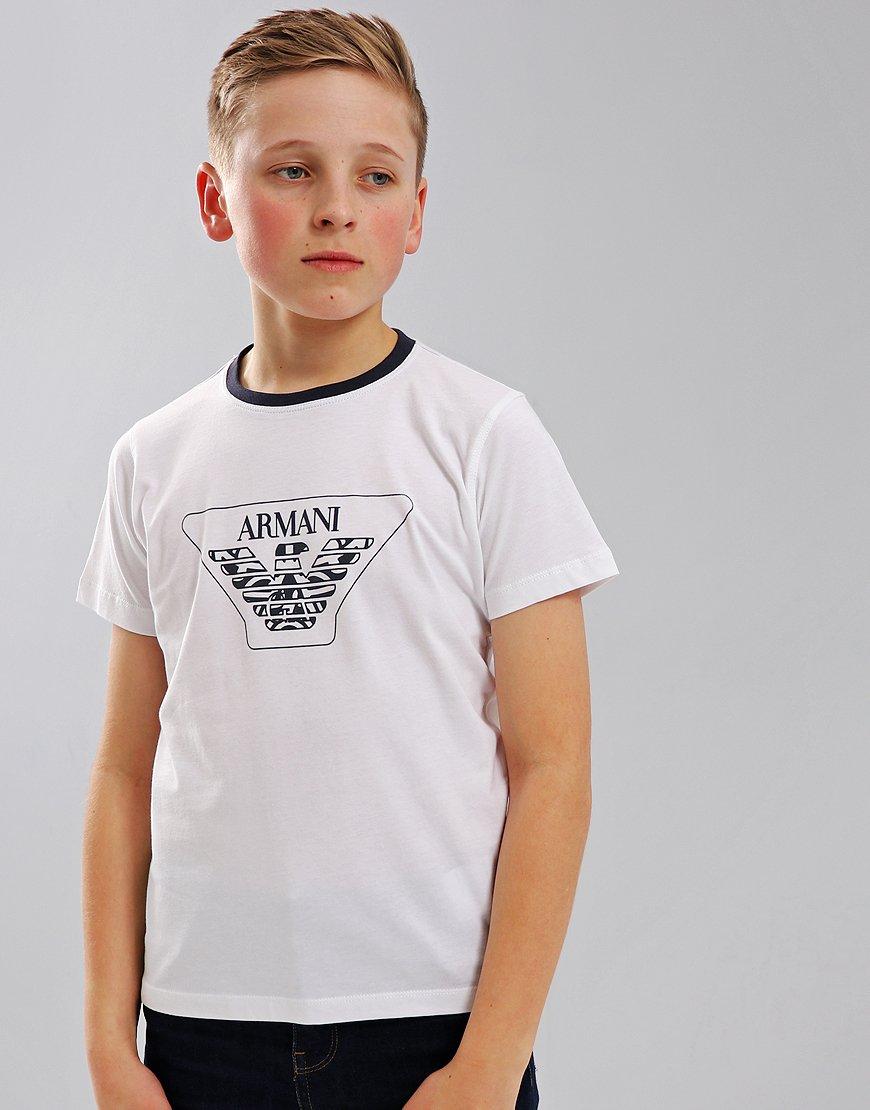 Armani Junior Print T-Shirt White