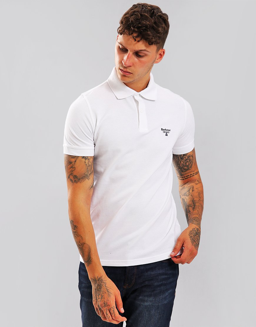 Barbour Beacon Polo Shirt White