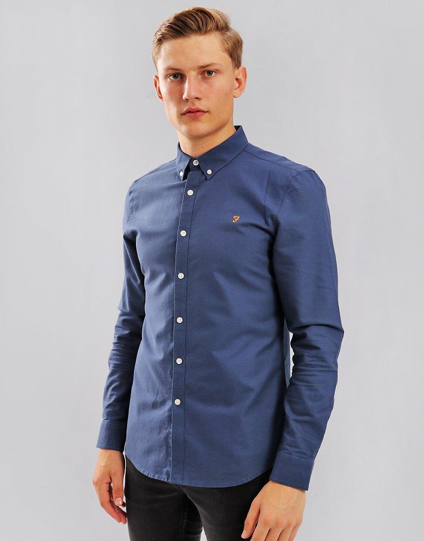 Farah Brewer Long Sleeve Shirt Bobby Blue