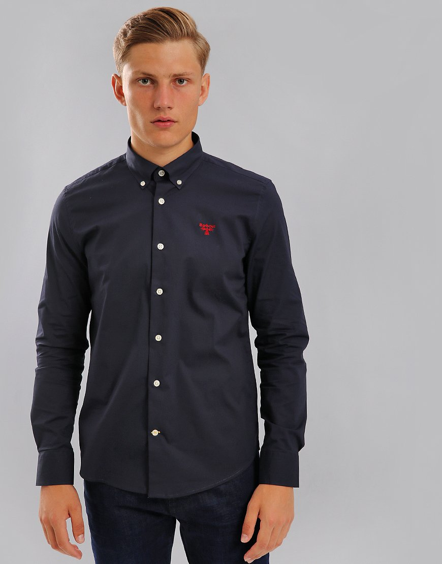 Barbour Beacon Seathwaite Long Sleeved Shirt Navy