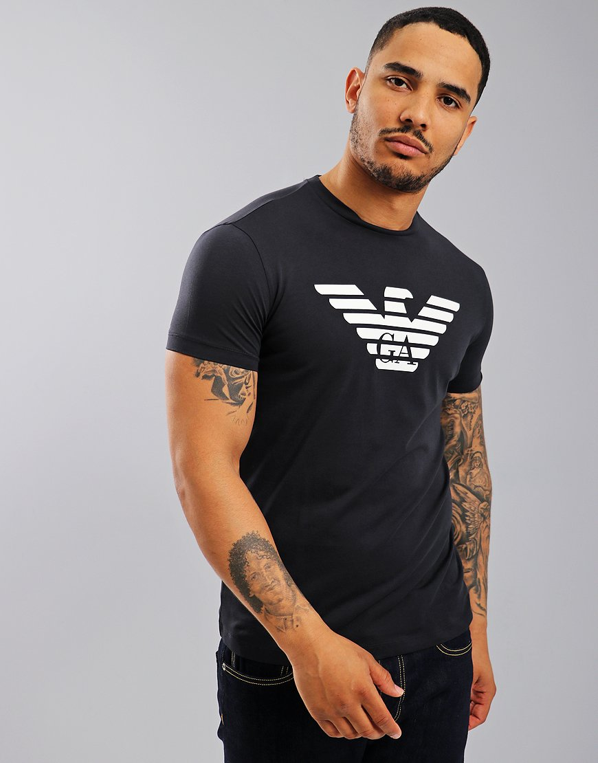 Emporio Armani Eagle Print T-Shirt Navy