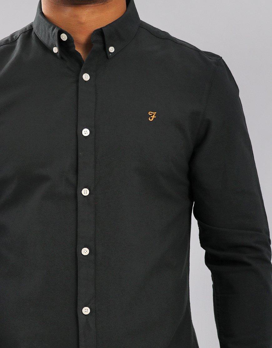 Farah Brewer Long Sleeve Shirt Black Ink