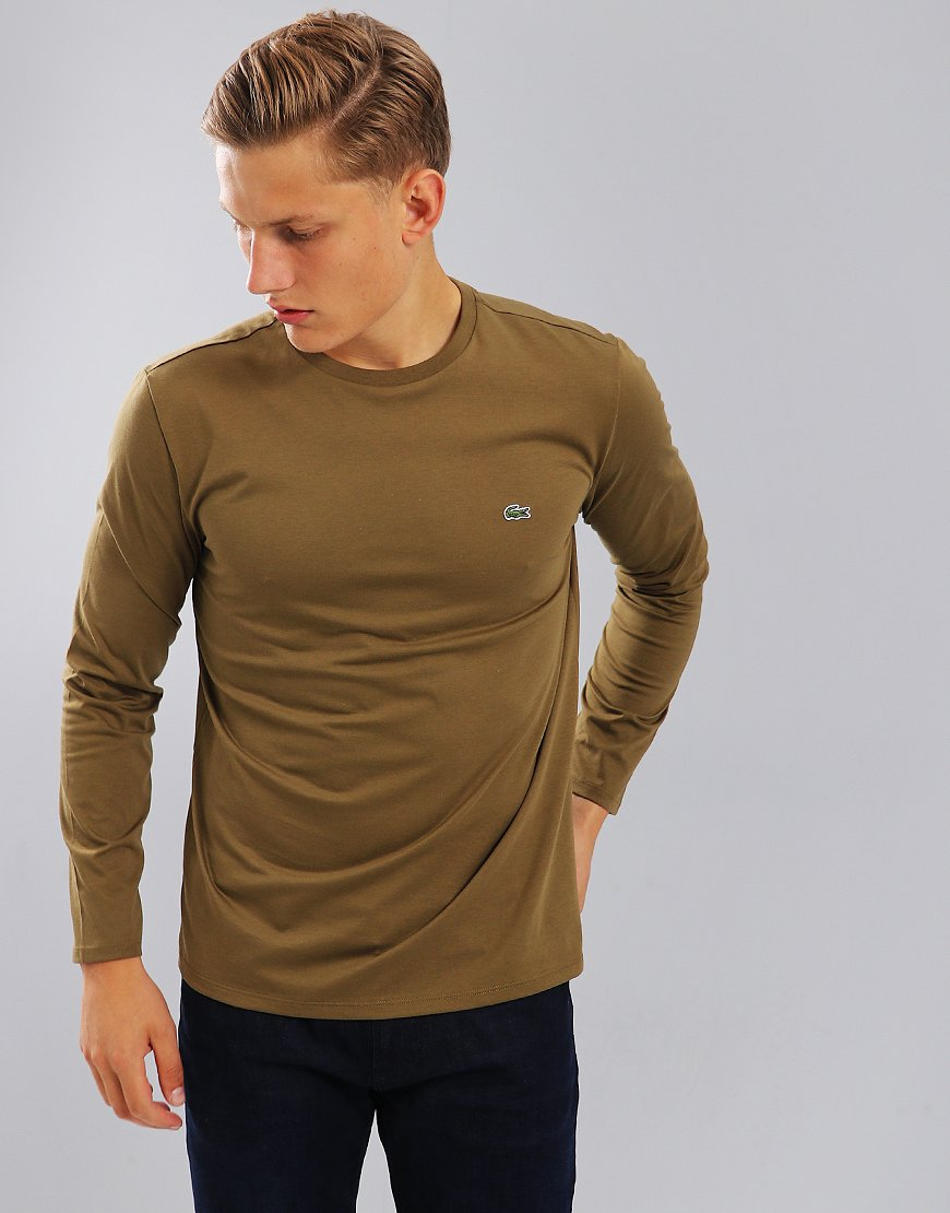 Lacoste Pima Cotton Crew Neck Jersey T-shirt Soldier