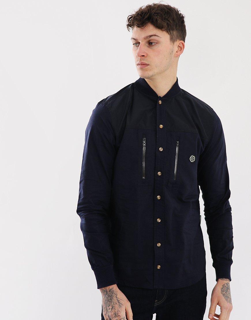 Nicholas Deakins Bragg Shirt Navy
