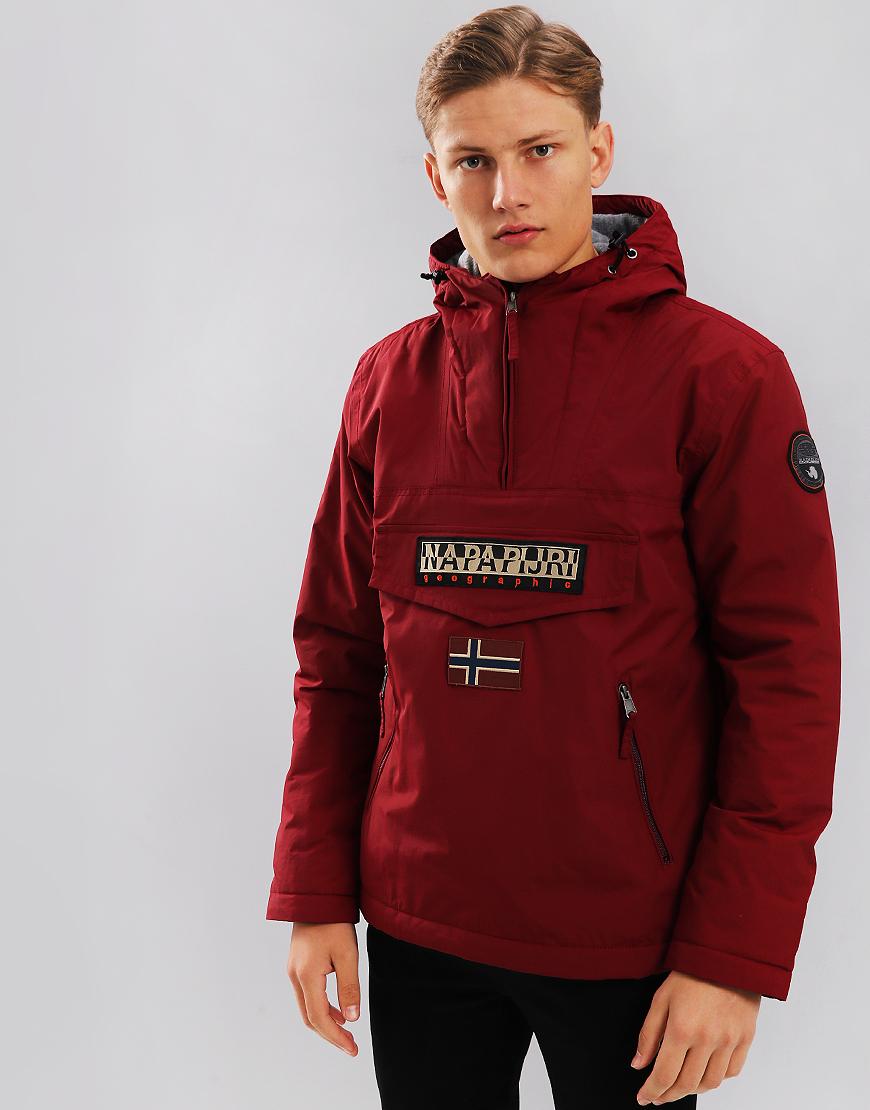 Napapijri Rainforest Winter Pocket Jacket Red Bourgogne