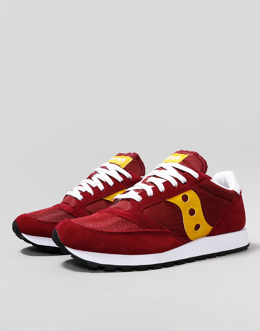 official store nice cheap best supplier Saucony Jazz OG Sneakers Maroon/Yellow - Terraces Menswear
