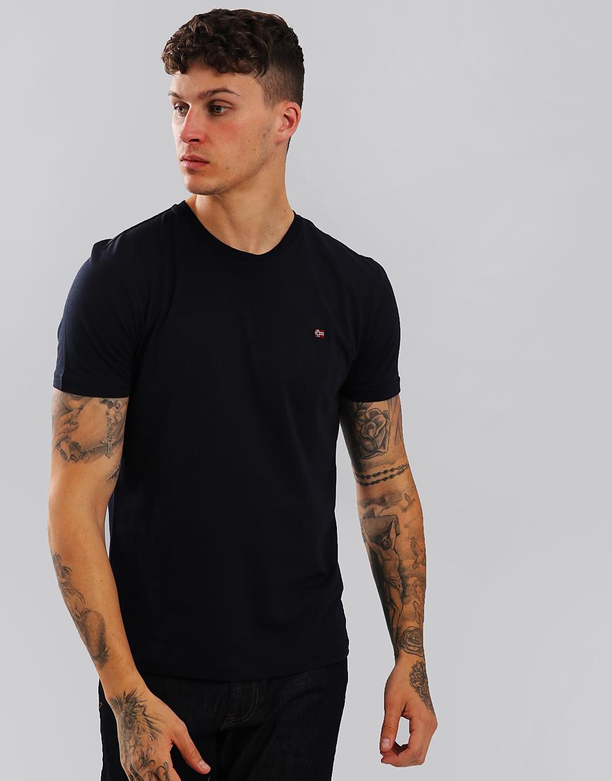 Napapijri Senoos Crew Neck T-Shirt Blu Marine