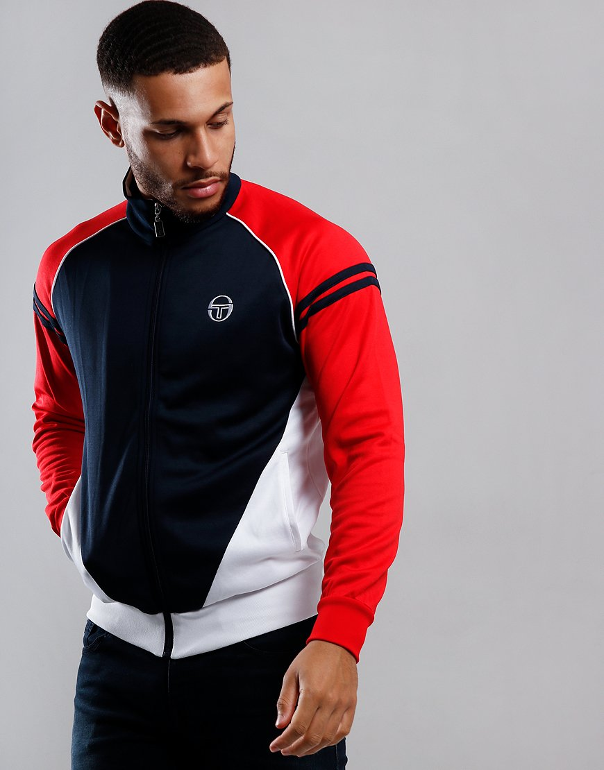 Sergio Tacchini Ascot Track Top Navy/Red