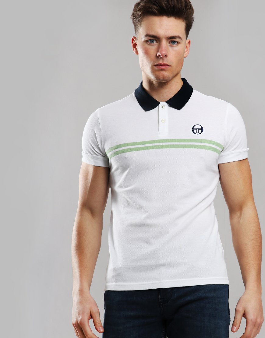 Sergio Tacchini Supermac Polo Shirt White/Green