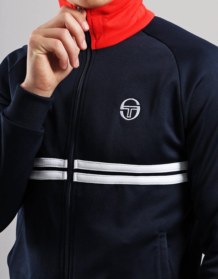b07e7715526bb Sergio Tacchini Dallas Track Top Navy White - Terraces Menswear
