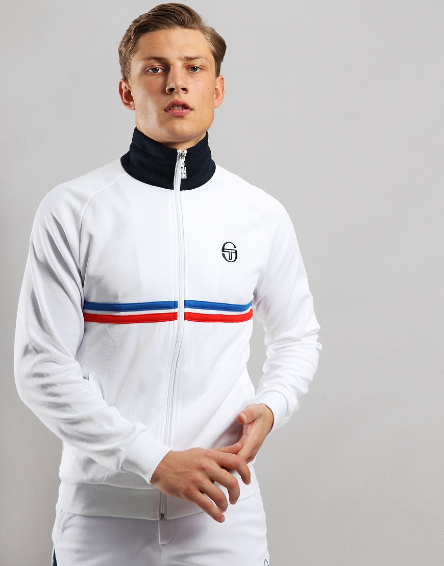 Sergio Tacchini Dallas Track Top White/Royal/Red