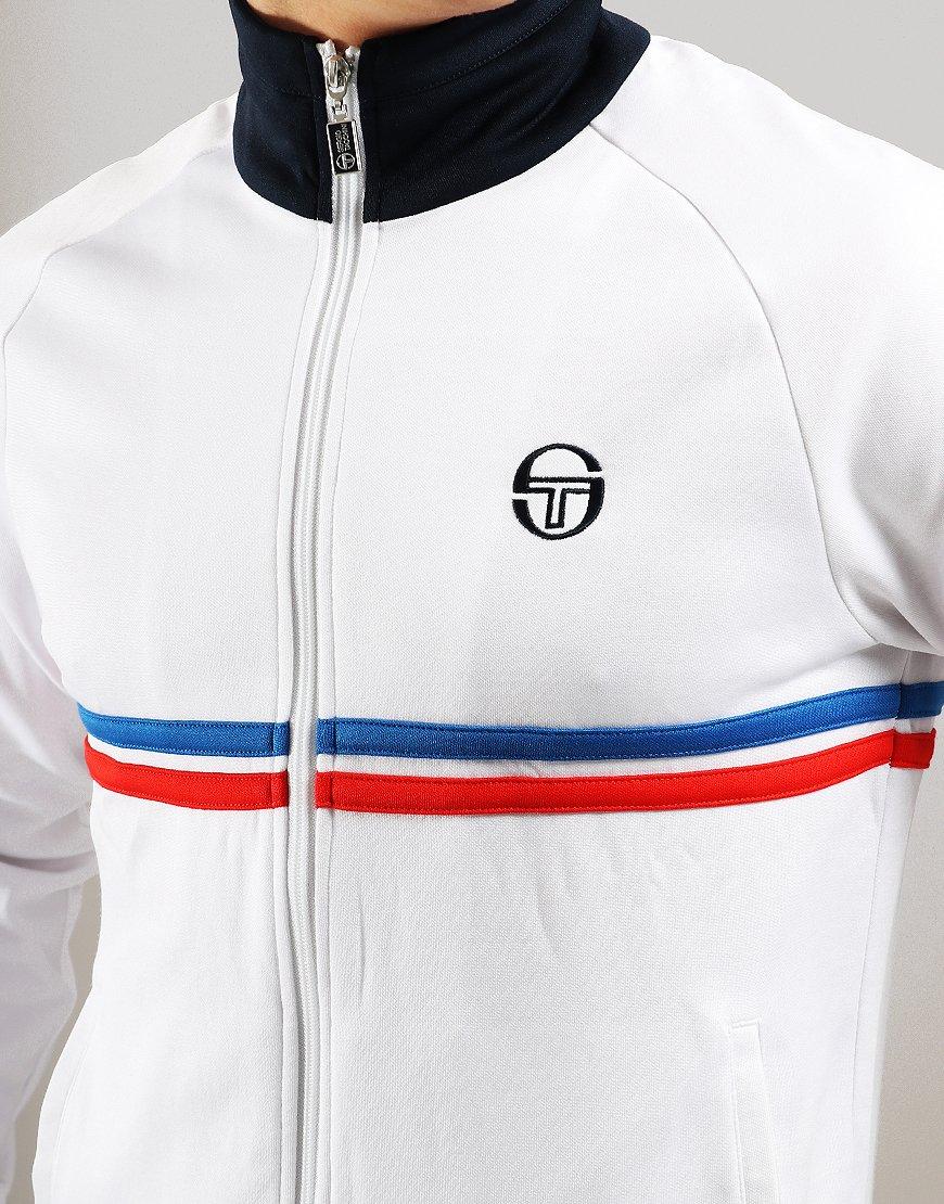 9fd0b7f86440 Sergio Tacchini Dallas Track Top White/Royal/Red - Terraces Menswear