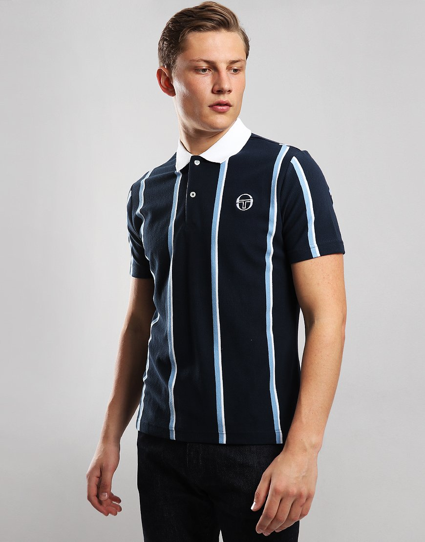 Sergio Tacchini Enforcer Polo Shirt Navy/White