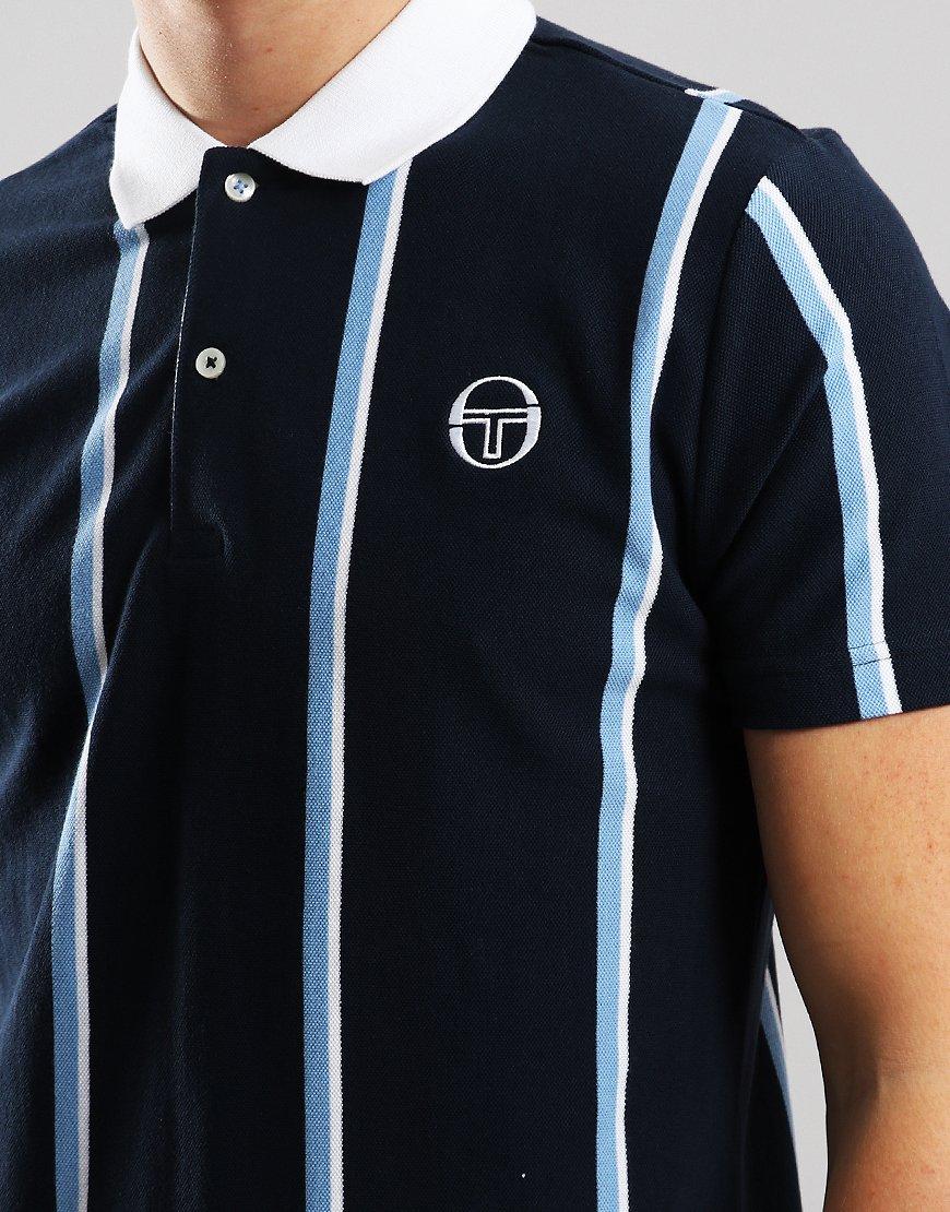 9b568d2cd Sergio Tacchini Enforcer Polo Shirt Navy/White