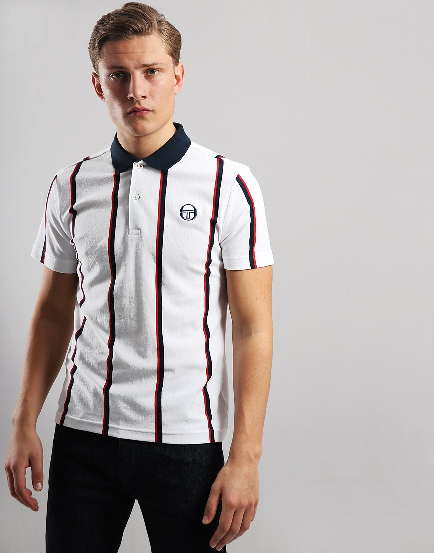 Sergio Tacchini Enforcer Polo Shirt White/Navy