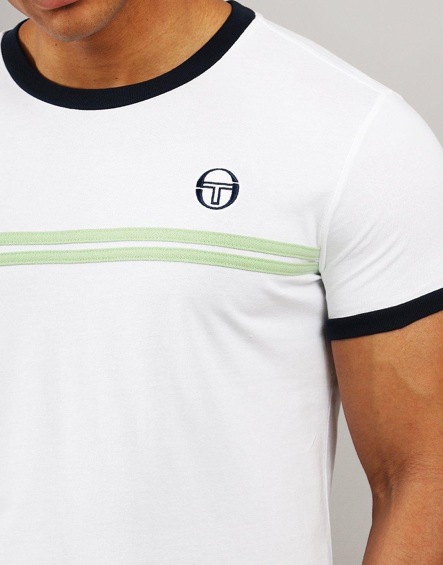 1fefe4d35 Sergio Tacchini Supermac 3 T-Shirt White/Green