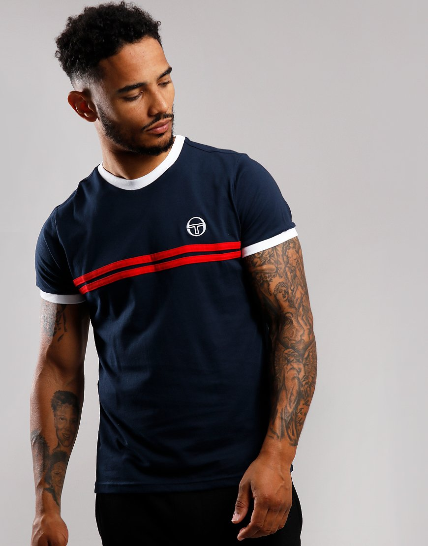 Sergio Tacchini Supermac 3 T-Shirt Navy/Red