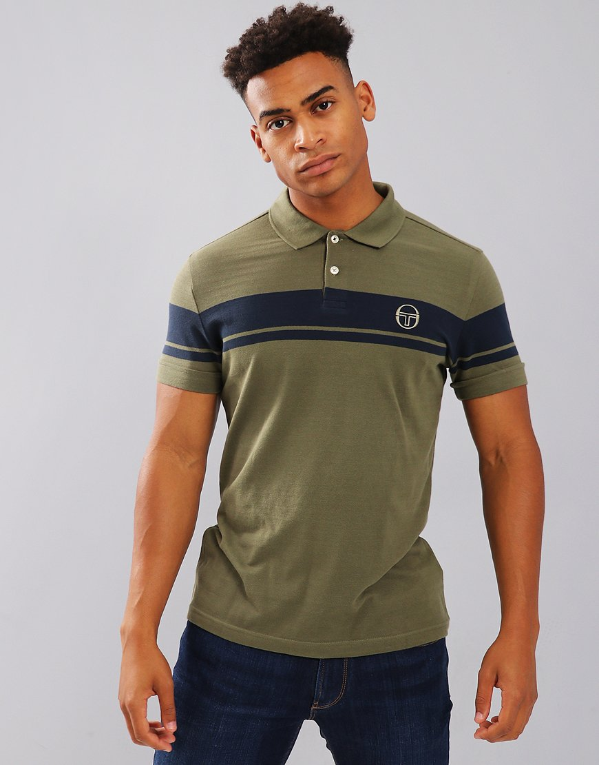 Sergio Tacchini Young Line Polo Shirt Olivine/Navy