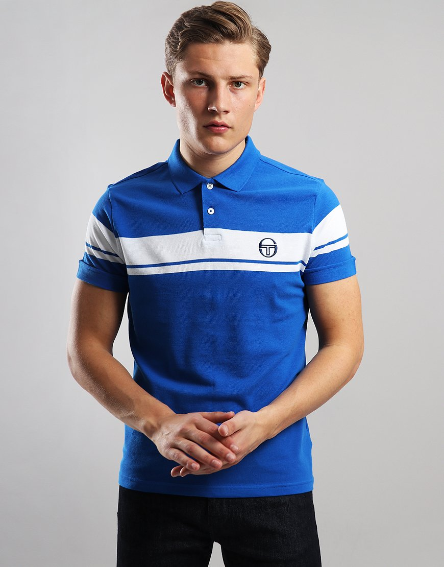 Sergio Tacchini Young Line Polo Shirt Royal/White