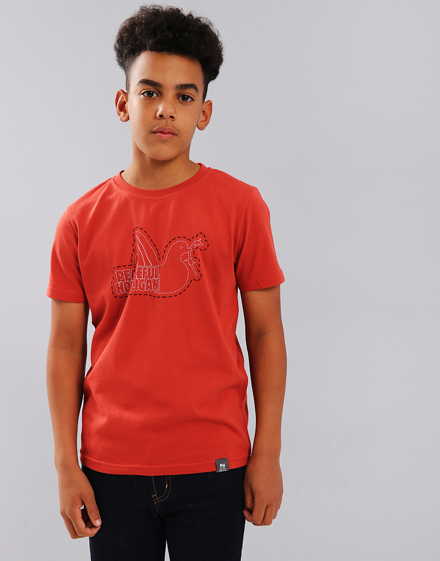 Peaceful Hooligan Junior Stitch T-Shirt Red