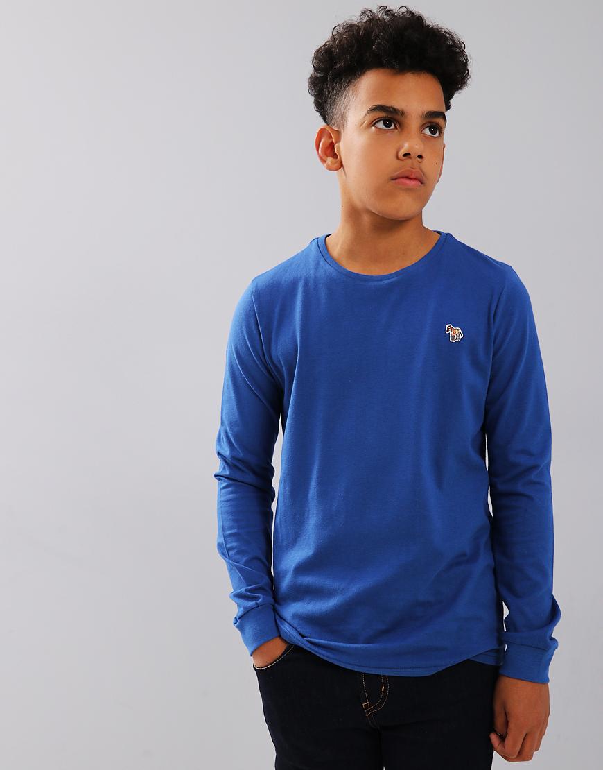 Paul Smith Junior Long Sleeve Sullivan T-shirt Medium Blue