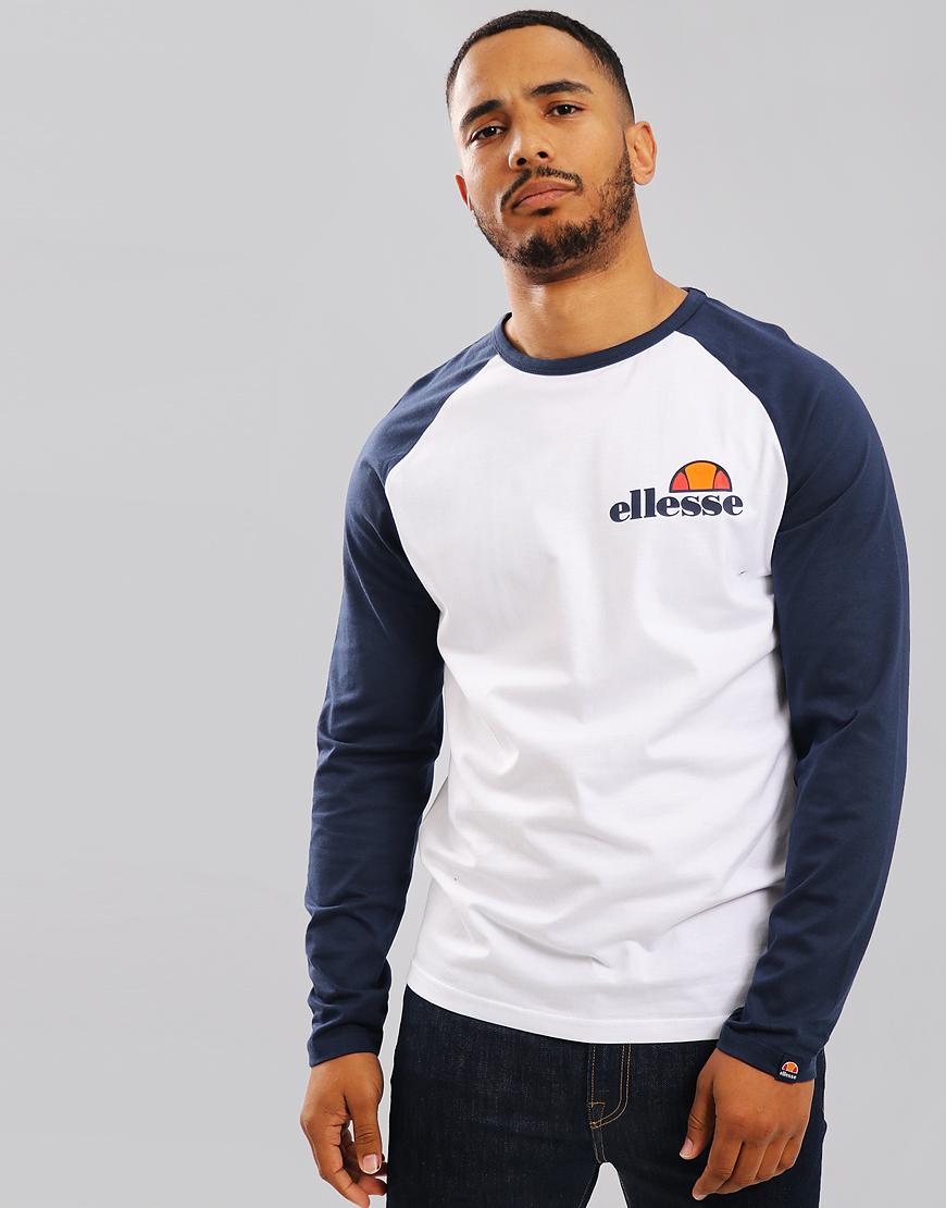 Ellesse Thero Long Sleeve T-Shirt White/Dress Blues