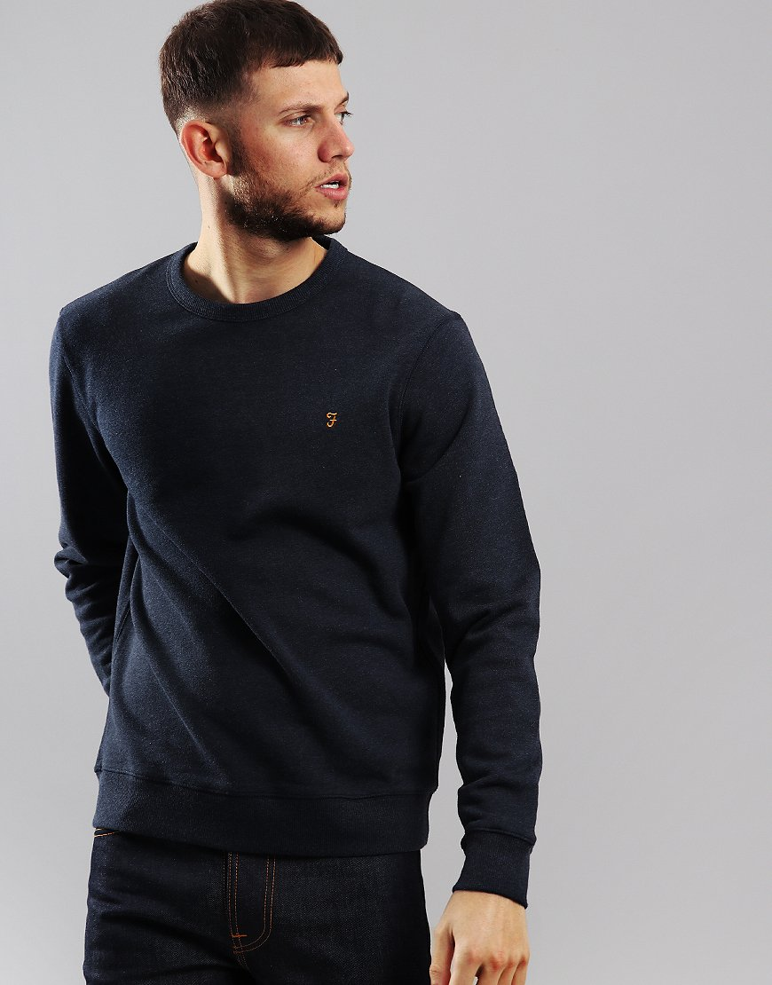 Farah Tim Crew Sweat Navy