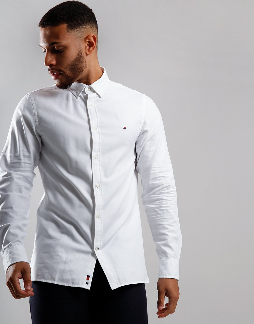Tommy Hilfiger 4 Way Stretch Long Sleeve Shirt White