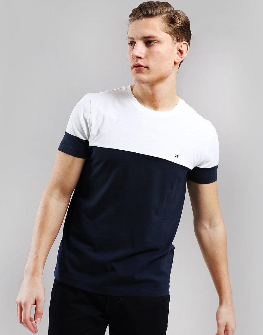 Tommy Hilfiger Colour Block T-Shirt Sky Captain/Bright White